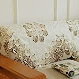 NS&SBZZ Throw Furniture Protector,European Style lace Fabric armrest Towel Embroidered Sofa Towel Embroider backrest Towel Anti-Slip Sofa slipcovers-A 90x200cm(35x79inch)