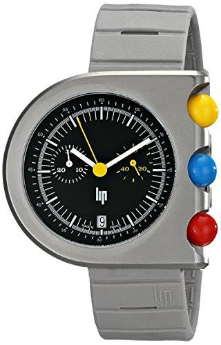 Lip Men's 1892532 Mach 2000 Chronograph Analog Display Swiss Quartz Grey Watch