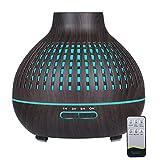 decdeal umidificatore a ultrasuoni da 400 ml, diffusore di aromi, olio essenziale, aromaterapia, con telecomando, per yoga, ufficio, casa, camera da letto