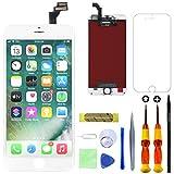 GULEEK Pantalla para iPhone 6 Plus 5,5' Pantalla táctil LCD Pantalla de Cristal Reemplazo del Marco del digitalizador con Herramientas de reparación (Blanco)
