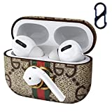 Luxury Compatible with Designer AirPods Pro Case Cover Protective Leather Case Skin for Apple Airpod Pro (Front LED Visible)