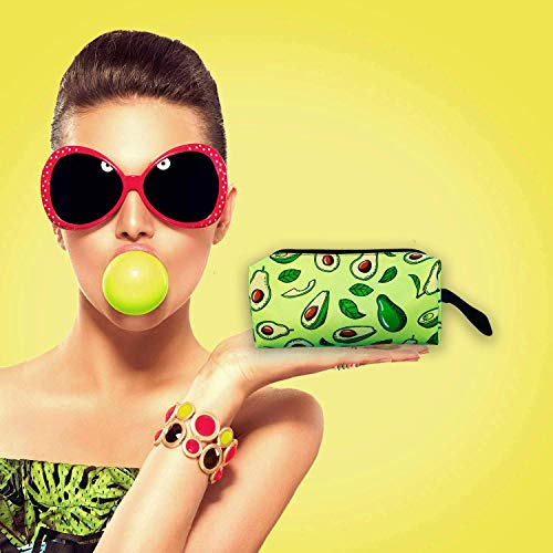 Avocado Small Pencil Bag for girls,Cosmetic Toiletry Makeup Zipper Storage Bag Pouch with strap for Women