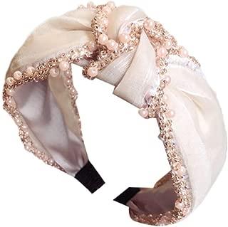 Arystk Women's Crystal Headband Fabric Hairband Head Wrap Hair Band Accessories