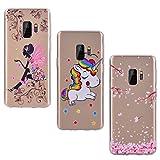 Yokata 3X Coques pour Samsung Galaxy S9 Etui Silicone Case Souple Étui Transparent...