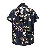Playa Shirt Hombre Verano Tendencia Moda Vintage Estampado Hombre...