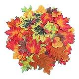 100 künstliche Herbstblätter zum Basteln