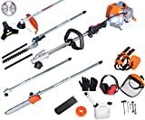 PROYAMA Powerful 42.7cc 5 in 1 Multi functional Trimming Tools,Gas Hedge Trimmer,String Trimmer,...
