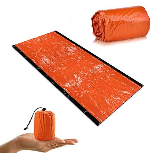 Qdreclod Notfallzelt, Dicker Typ Notschlafsack Biwaksack Wasserdicht Ultraleicht Survival Schlafsack, Wärmeisolierung, Reißfest, Hohe Sichtbarkeit, Wiederverwendbar für Outdoor Camping Wandern