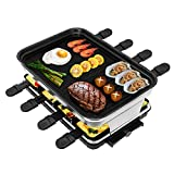 Best Raclette Grills - Electric Grill Indoor Smokeless, VEEDA Raclette Table Grill Review