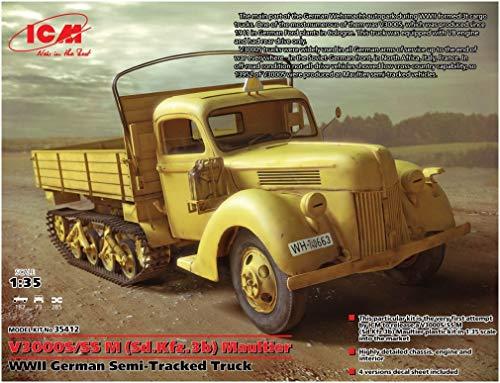 ICM 1/35 ドイツ フォード V3000S/SSM マウルティア ハーフトラック プラモデル 35412
