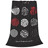 Boyeashion Party 21 Blurryface Pilots Tapestries Bedspread Tapestried Skin-Friendly Tapestrying Personality Game Tapestries 80'X60'