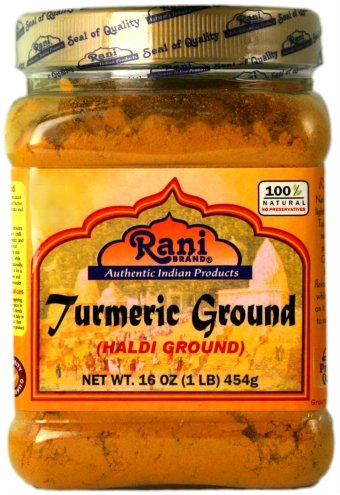 Rani Turmeric (Haldi) Root Powder Spice, (High Curcumin Content) 16oz (454g) 1lb ~ All Natural | 100% Pure, Salt Free | Vegan | Gluten Friendly Ingredients | NON-GMO | Indian Origin
