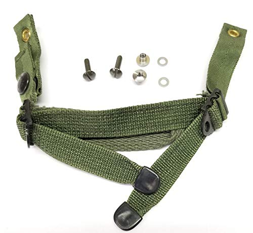 PASGT Kevlar Helmet Chin Strap with Mounting Hardware (OD Green)