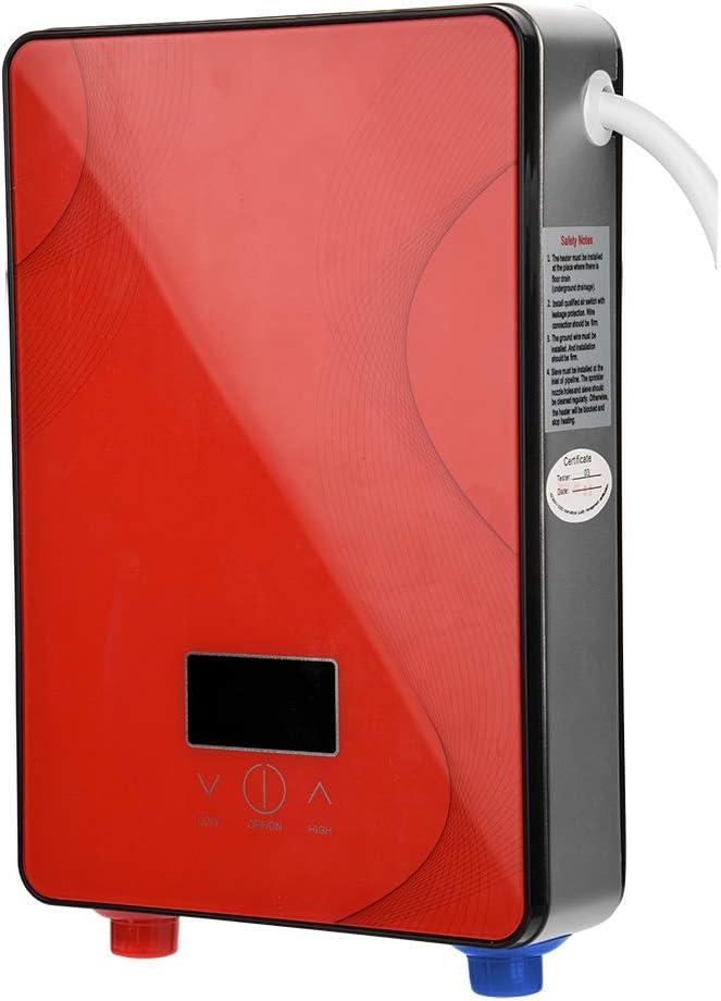 Fdit 8500W / 6500W Instant Intelligente elektrische Durchlauferhitzer 220V + 3-teiliges Duschset Rot 6500W