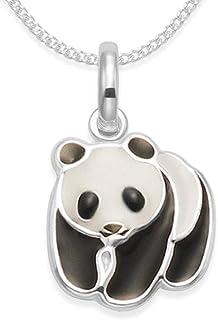 Laimons Kids Bijou pour enfant boucles doreilles pour enfant panda noir blanc argent sterling 925