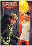 Jinlyp Sowjetische Charaktere Retro Metall Poster