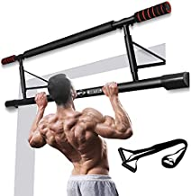 Chriffer Multi-Gym Doorway Pull Up Bar Fitness, Portable Gym System with Smart Hook Technology
