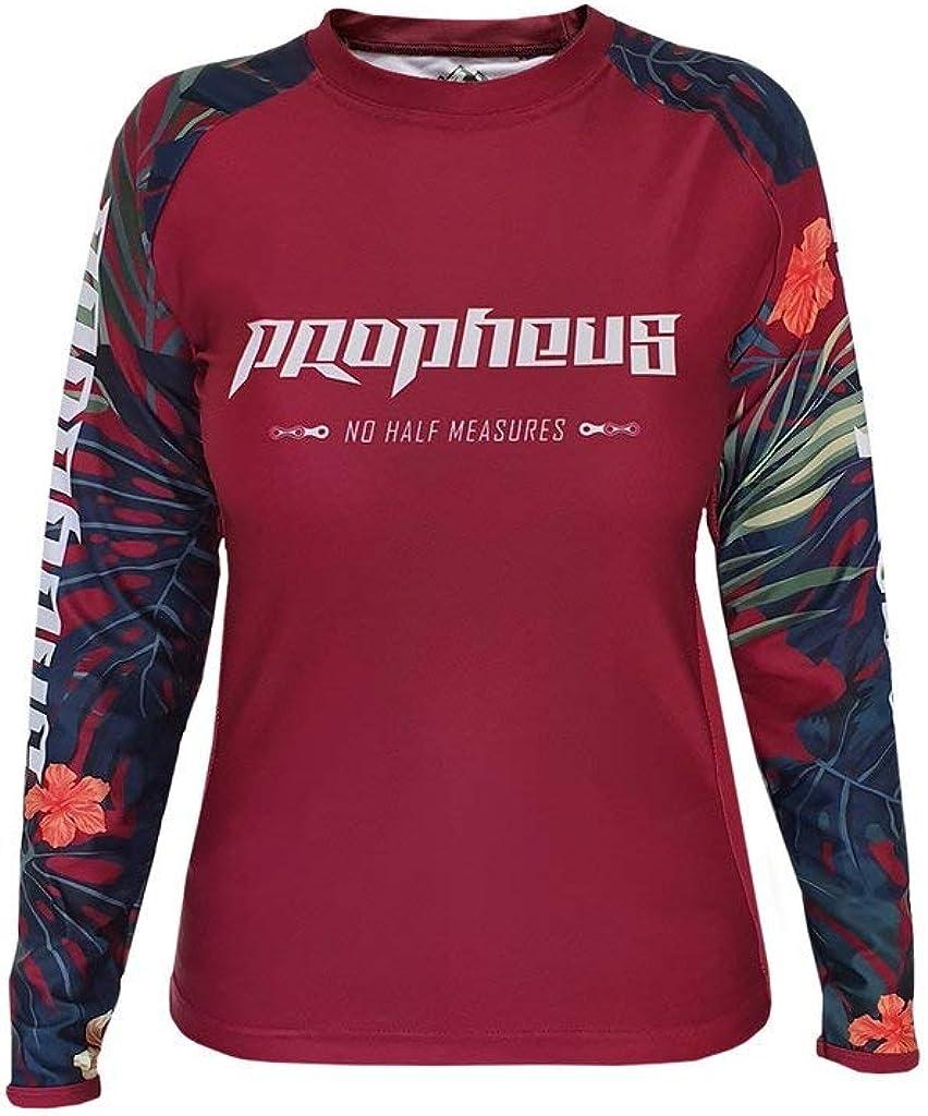 Propheus Mtb Mx Damen Ladys Jersey Bordeaux Jungle Langarm Für Downhill Enduro Und Motocross Bekleidung