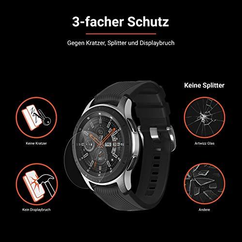 Eono Smartwatch Panzerglas kompatibel mit Huawei Watch GT [2 Stück] - HD Schutzglas gegen Displaybruch, Kratzer mit 9H Stärke