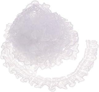 MILISTEN Ruban de Tissu de Dentelle de Garniture de Dentelle pour La Couture Et Lartisanat de Bricolage 3 M/ètres Noir