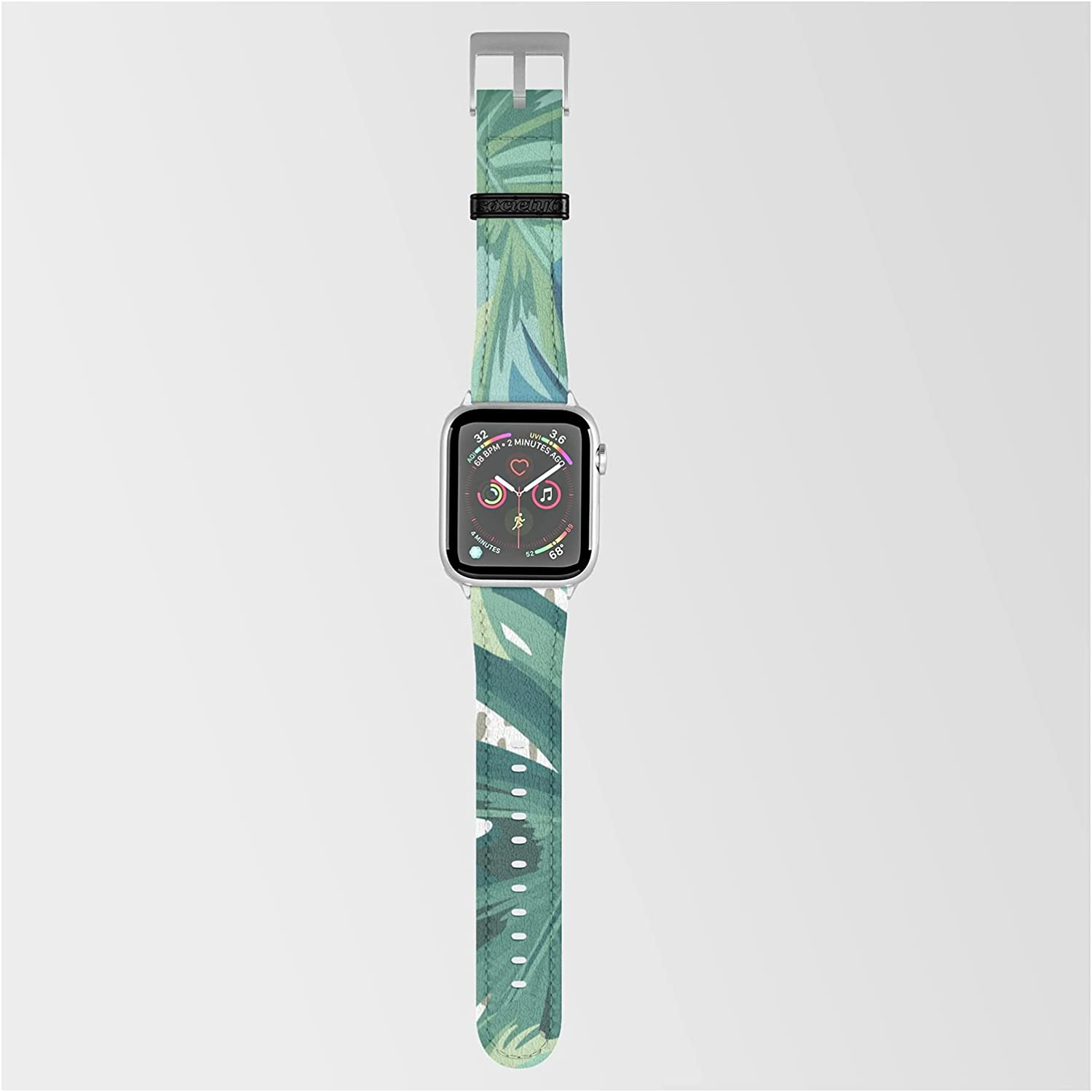 Tropical Palms Green and Blue Abstract Manufacturer OFFicial shop Megan Morris Online limited product by Smar on