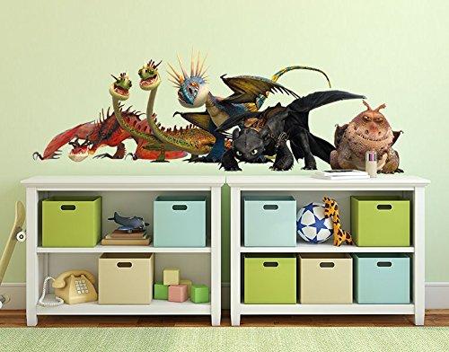 Klebefieber Wandtattoo Dragons Drachengruppe B x H: 90cm x 32cm