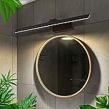 Luz De Espejo LED Regulable, Negra IP44 Luz De Baño Impermeable 1900Lm Luz De Baño para Baño De Hotel Luz Nítida Y Luces De Pared, 3 Colores,58cm10W