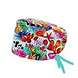Modelo: SIDNEY CON SISTEMA CLICK - Pelo Largo -Gorro de Quirófano ROBIN HAT con sistema de sujeción con click - Ajustable- 100% algodón (Autoclave)