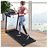Fast Arrival, Folding Treadmill for Home 300 Lb Capacity, 2.5 Hp Motor Wide Treadmill, LCD Display,Walking Jogging Machine for Home/Office Use, Low Noise,US Stock, Deliver in 3-7 Days (Black)