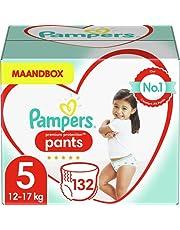 Pampers Maat 5 Premium Protection Luierbroekjes, 132 Stuks, MAANDBOX, Pampers N°1 Luierbroekjes met Comfortabele Pasvorm En Gemakkelijk Aan Te Trekken (12-17 kg)