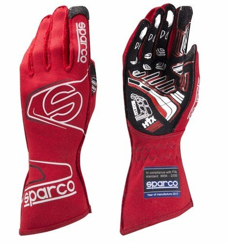 Sparco Arrow RG-7 Evo Racing Gloves 001309 (Size: 7, Red)