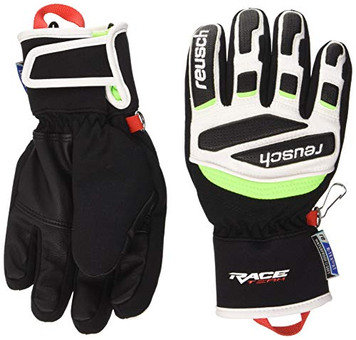 Reusch Kinder Prime Race R-TEX XT Junior Handschuh, Black/White/neon Green, 4.5