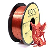 Amazon Brand- Amazon Brand - Eono Filamento per Stampa 3D, Materiale PLA Effetto Silk, 1,75mm, Risultato Smussato e Liscio Effetto Seta, Indicato per Stampe Decorative, 1kg, Rame