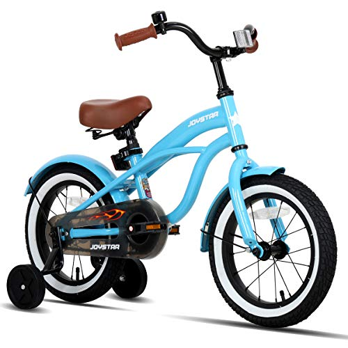 JOYSTAR 16 Inch Kids Beach Cruiser Bike with Training Wheels for Ages 4-7 Years Old Girls & Boys Toddler Kids Bicycle Blue