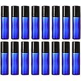 Hemoton Mini Botellas de Rodillo de Vidrio 10Ml Botellas de Rodillo de Aceite Esencial 20 Piezas Botellas de Viaje Vacías Recargables Botellas de Muestra de Perfume Botella de Bola de