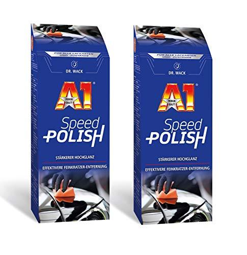 ILODA 2X 250ml Dr. Wack A1 Speed Polish, Autopolitur für alle Lacke mit Carnauba-Wachs für Lack-Versiegelung bis 3 Monate, Politur für Auto, Lackschutz