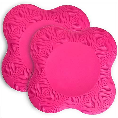 Tobwolf - Rodilleras de yoga (2 unidades, espuma antideslizante), cómoda almohadilla de apoyo para yoga, ejercicio, para proteger la rodilla, tobillo, codo, mano), color rosa
