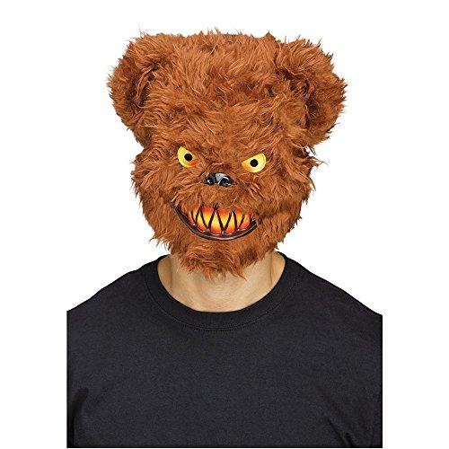 Fun World Men's Killer Brown Bear Adult Mask, Standard