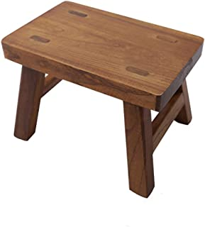 Golden Sun Solid Wood Small Stool for Kids Foot Stool Waterproof 6 inch