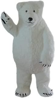 Langteng White Polar Bear Mascot Costume Cartoon Character Adult Sz Real Picture