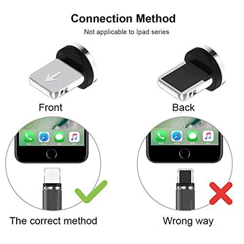 Kyerivs Magnetisches USB Ladekabel, Micro-Light-Typ C Kabel Ladegerät mit LED für Handy/Android, 3-in-1 mehrere Ladeadapter - No Sync Data (Zubehör, Micro+Typ-C+Lighting)