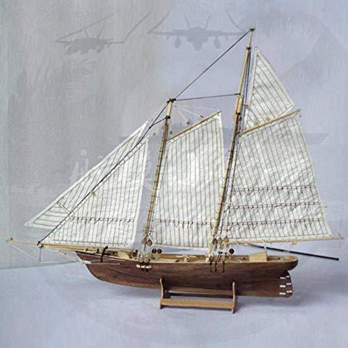 24cm Massivholz Sailboat Art Modell Raum Hotel Home Wohnzimmer Hochzeit Dekoration Geburtstags-Geschenk-Handwerk Holzboot 1yess