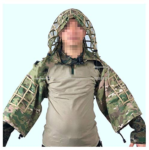 Airsoft traje de camuflaje manto, traje con capucha de víbora Base ...