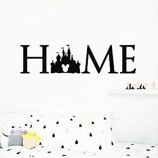 lyclff Princesa Castle Home Sign Tatuajes de Pared Cartel Cita Orejas de Mickey Mouse Bebé Nursery
