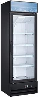 Upright Single Glass Door Commercial Display Refrigerator - Retail Merchandiser Cooler - 14 Cubic Ft.