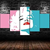 45Tdfc 5 Unidades Pictures Marilyn Monroe minimalismo Abstracto Painting Home Decor Modern Wall Art Canvas HD Prints Frame Modular Poster