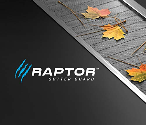 """Stainless Steel Micro-Mesh, Raptor Gutter Guard: A Contractor-Grade DIY Gutter Cover That fits Any roof or Gutter type-48ft to a Box and fits a 5"""" Gutter."""