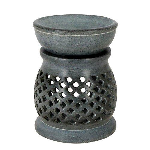 Indische Dekorationsartikel Für Zuhause Handgemachte Lampen Kerze Teelichthalter Grau Seife Stein 3 Zoll