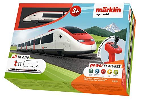 """Spielzeugeisenbahn Märklin my world 29335 - Startpackung """"schweizer Schnellzug"""", Modelleisenbahn Spur H0 Startset"""