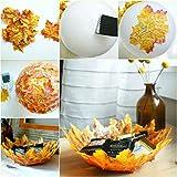 GiBot 400 Stück sortierte farbige Ahornblätter künstliche Herbstkunst Ahornblätter Tischdeko für Halloween, Thanksgiving, Hochzeiten, Zuhause, Innen- und Außendekoration - 8